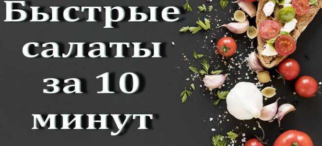 6 Быстрых салатов за 5–10 минут