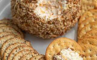 Сырный шар с орешками – броский перекус