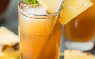 Холодный ананасовый чай – летний фруктовый букет