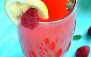 Домашний лимонад с малиной и мятой