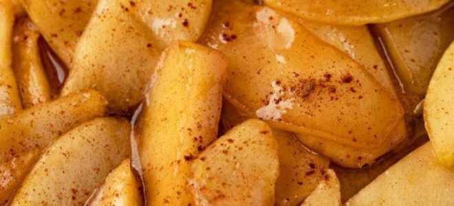 Жареные яблоки с корицей по-южному за 15 минут