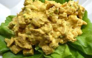 Салат для коронации: курица и фрукты, карри, йогурт и сливки