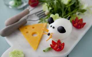 «Милая мышка» – закуска из яйца с сыром и овощами