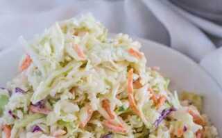 Классический салат «Коул Слоу» c капустой за 10 минут