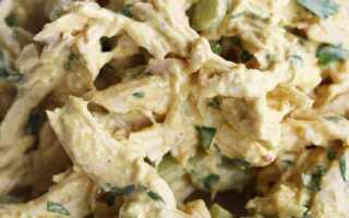 Салат для коронации: курица с карри, майонез и молоко