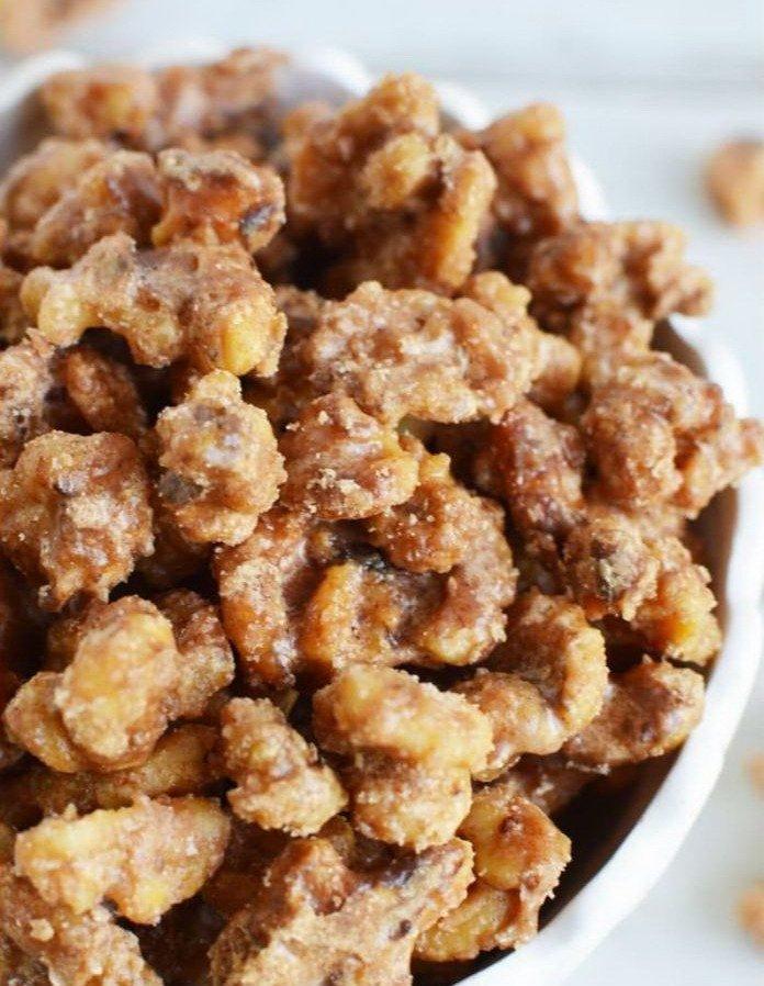 Карамелизированные грецкие орехи
